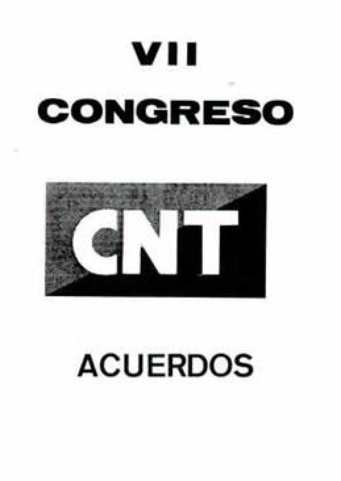 VII Congreso de CNT Barcelona y Torrejón de Ardoz 1983