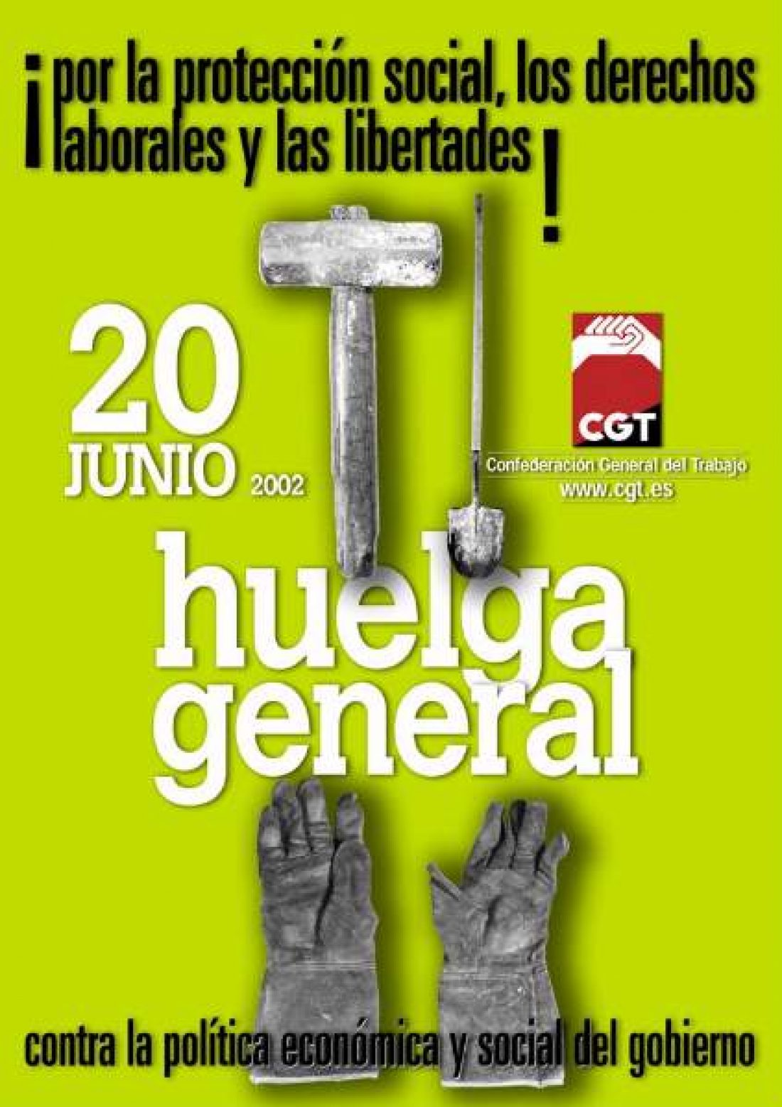 Cartel Huelga General 20J 2002 CGT