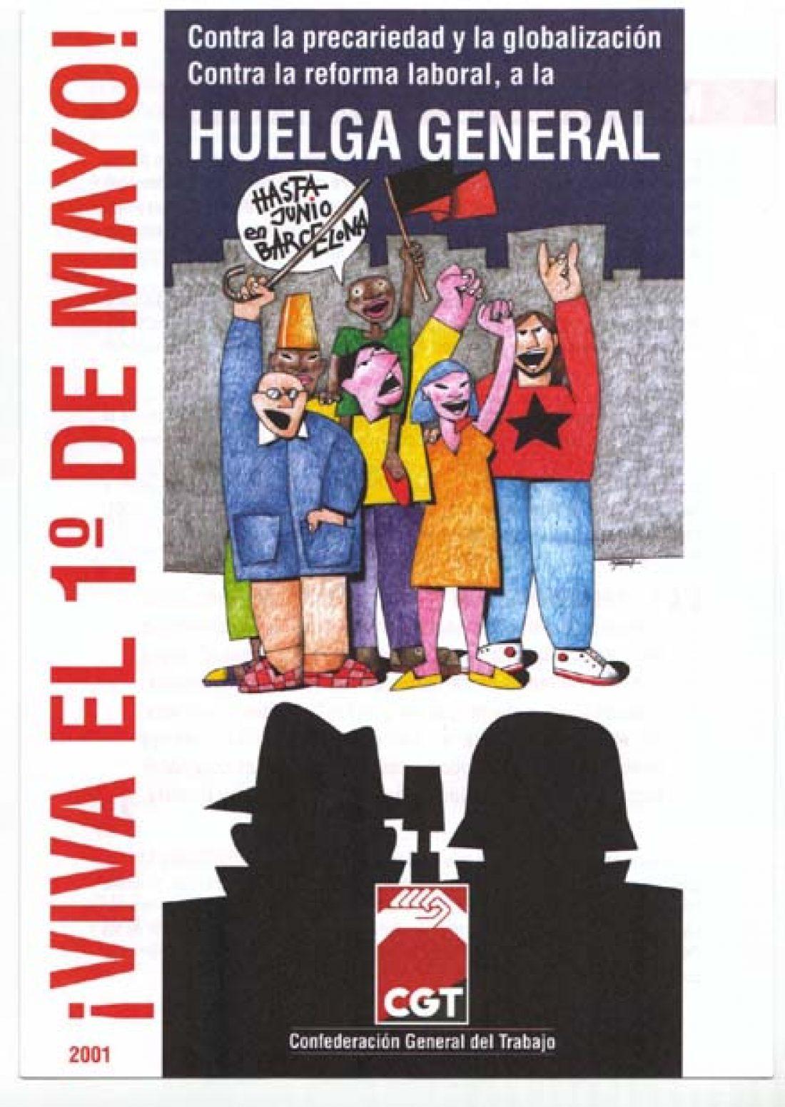 Cartel 1 Mayo 2001 CGT
