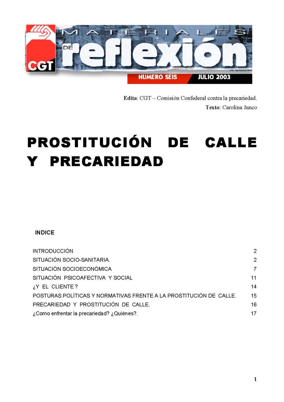 MR 06 Prostitución de calle y Precariedad
