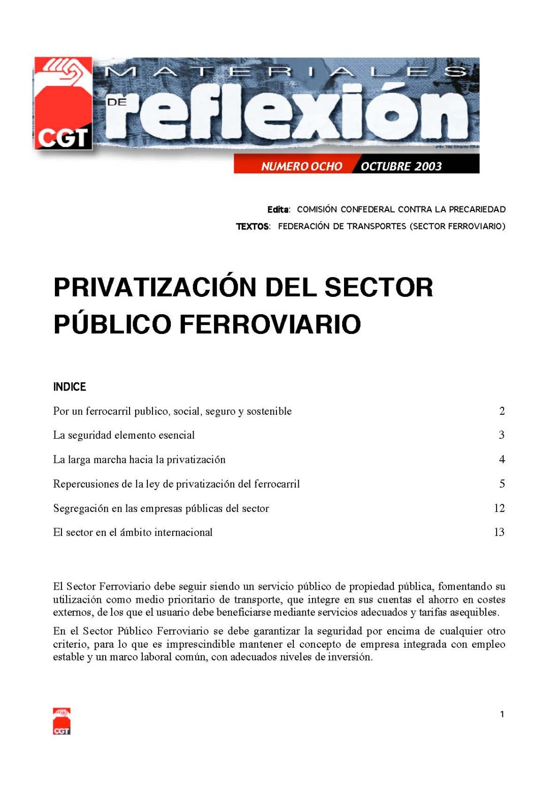 MR 08 Privatización del Sector Ferroviario