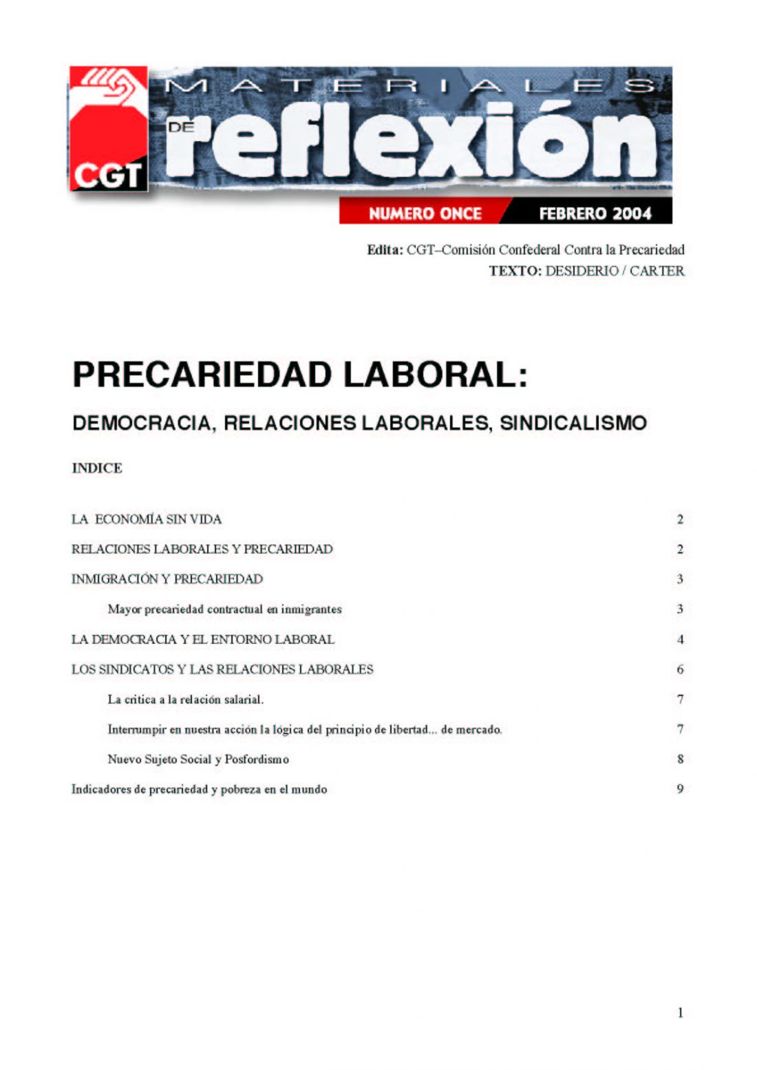 MR 11 Precariedad Laboral.