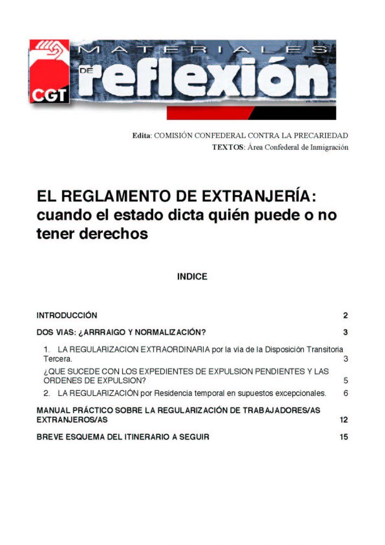 MR 21 Reglamento de Extranjería