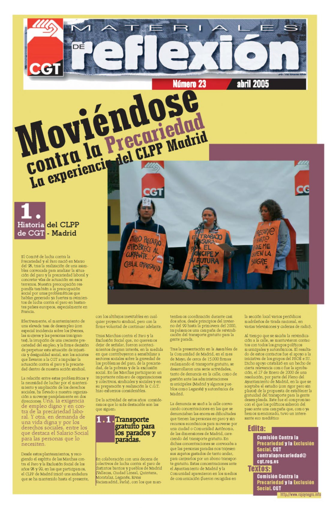 MR 23 Comisión de Lucha contra la Precariedad de Madrid