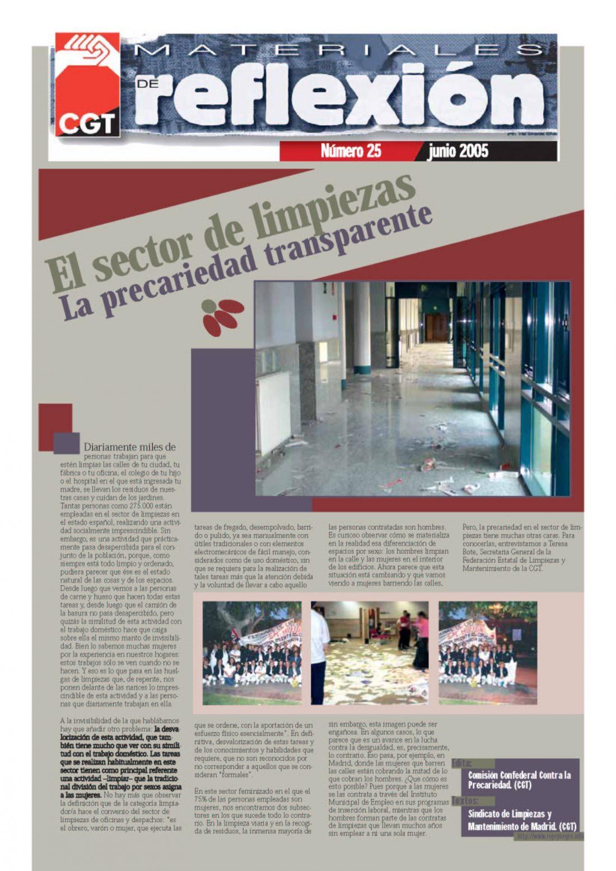 MR 25 Precariedad transparente en Limpiezas
