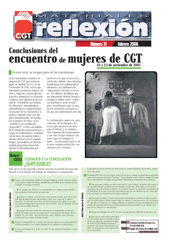 MR 31 Conclusiones del Encuentro de Mujeres de CGT