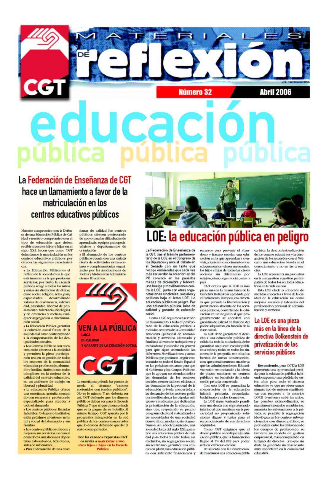 MR 32 Educación Pública