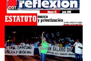 MR 35 Sanidad: Estatuto Marco y Privatización