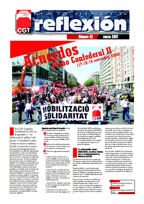 MR 42 Acuerdos Pleno Confederal. Noviembre de 2006 (II)