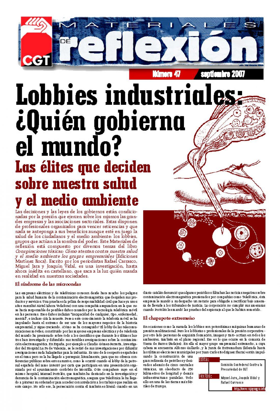 MR 47 Lobbies industriales: ¿Quien gobierna el mundo?