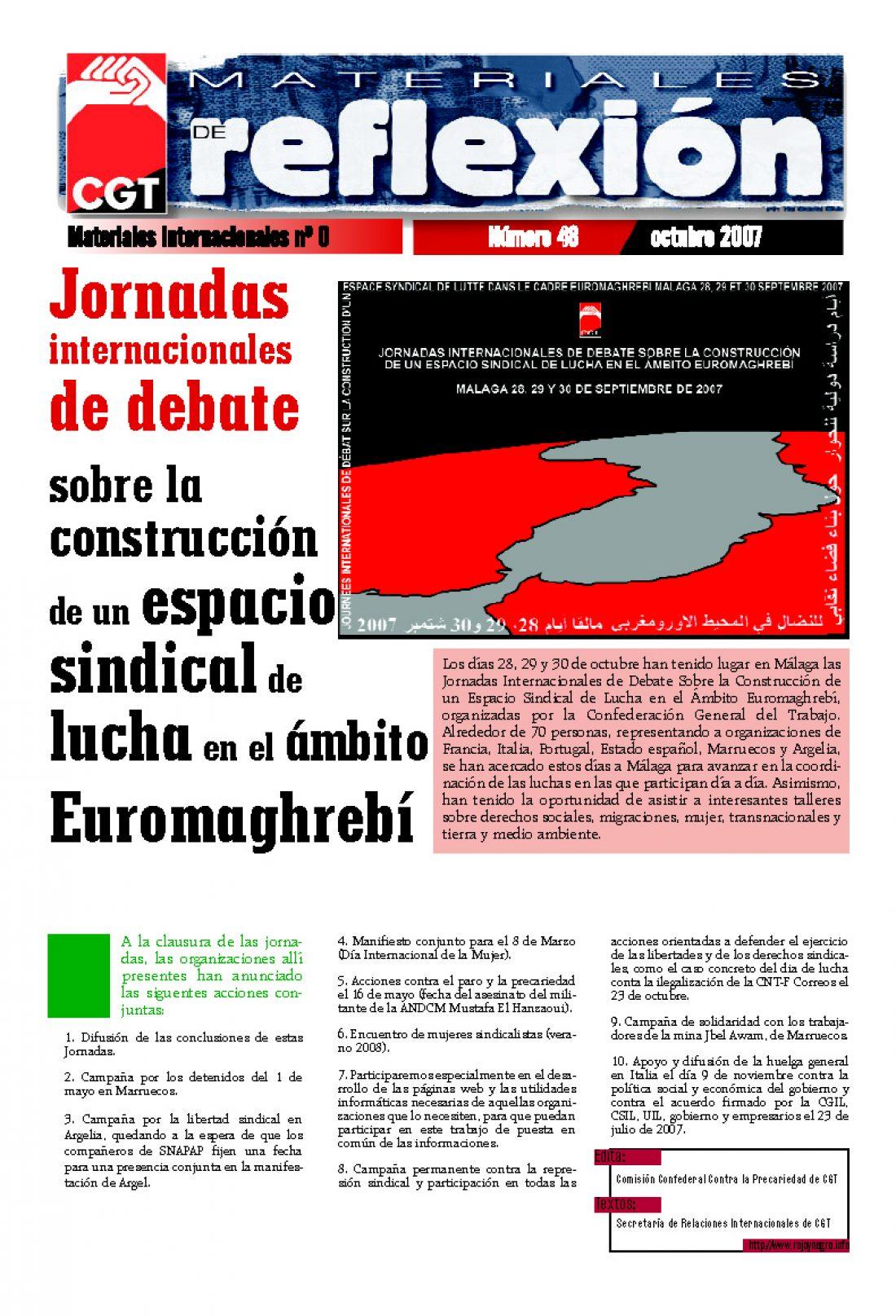 MR 48 Jornadas Internacionales Euromaghrebíes