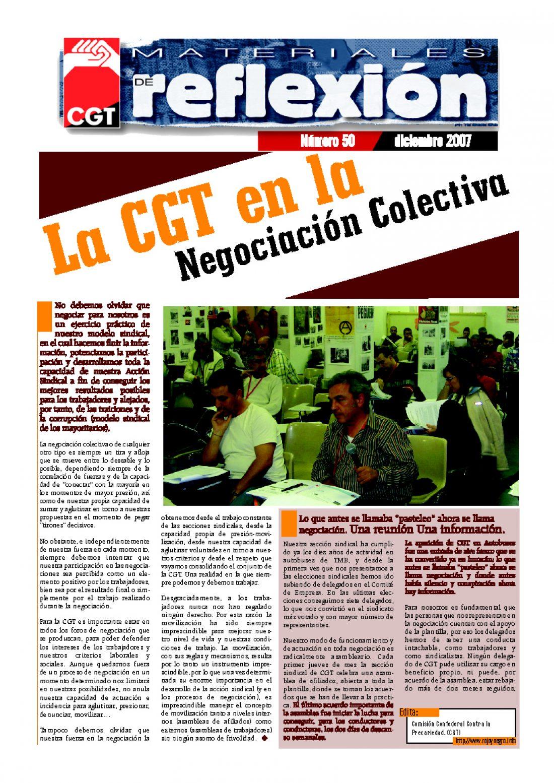 MR 50 La CGT en la Negociación Colectiva