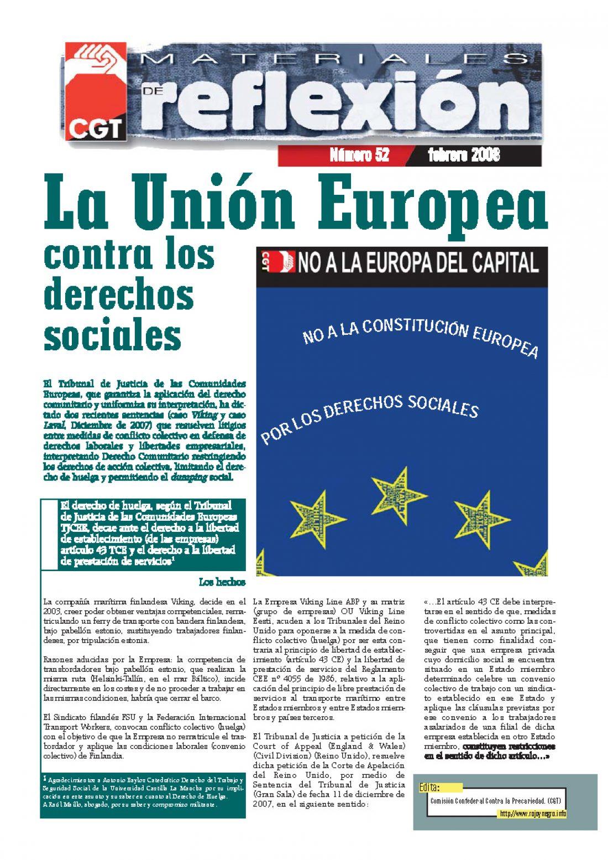 MR 52 La Unión Europea contra los derechos sociales