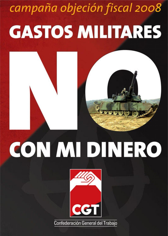 Campaña CGT Objección Fiscal al gasto militar 2008