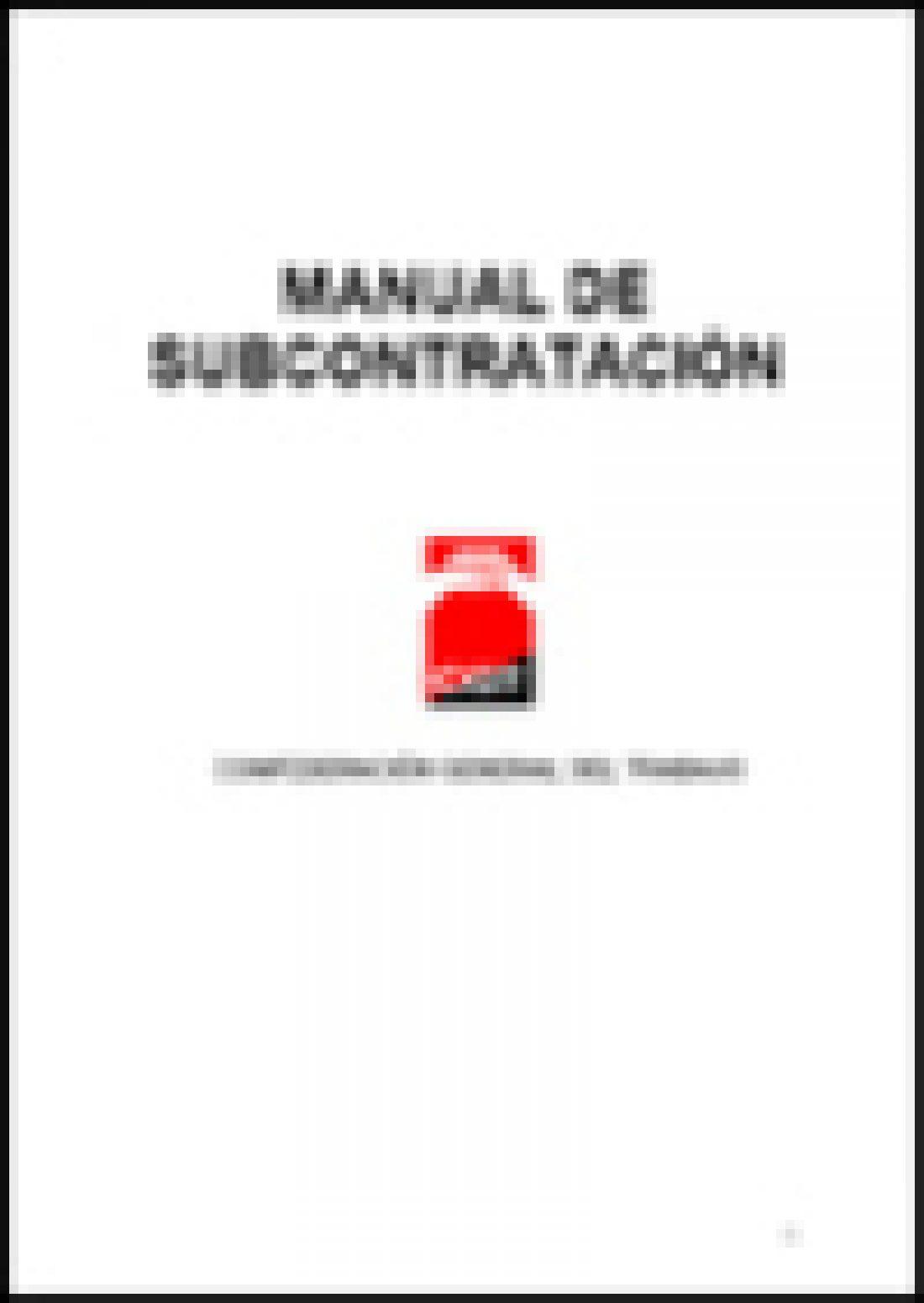 Manual Sindical sobre Subcontratación (Ed. 2006)