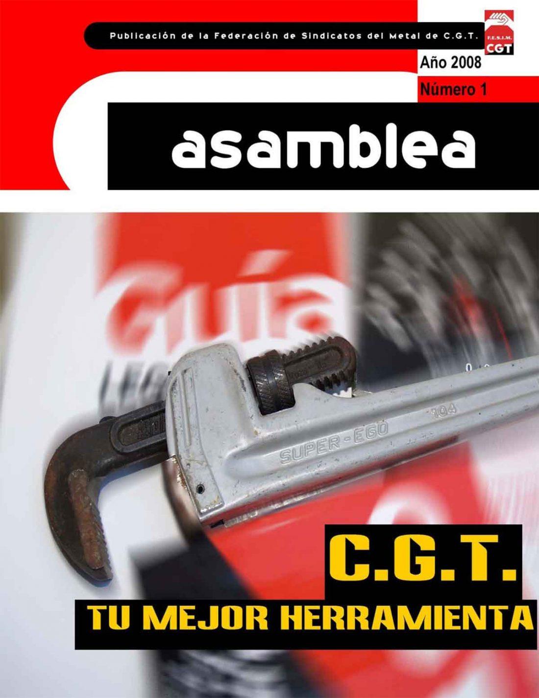 Ya está editada «Asamblea»,  la primera revista unitaria del Sector del Metal de CGT-FESIM