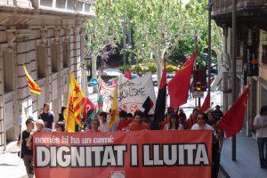 Lleida: crónica y fotos de la manifestación del 1 de maig