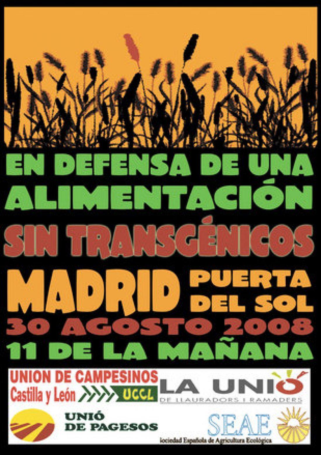 Madrid, 30 de agosto: por una alimentación sin transgénicos