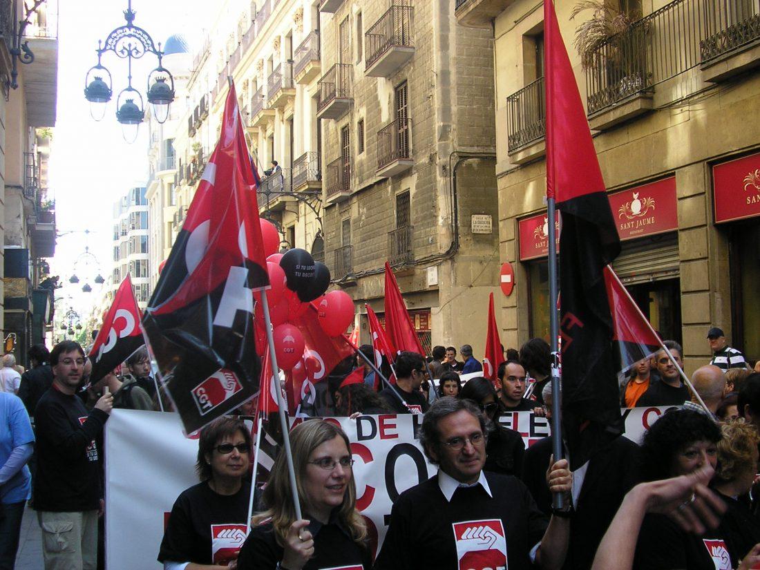 Barcelona: mil personas en la manifestación de CGT