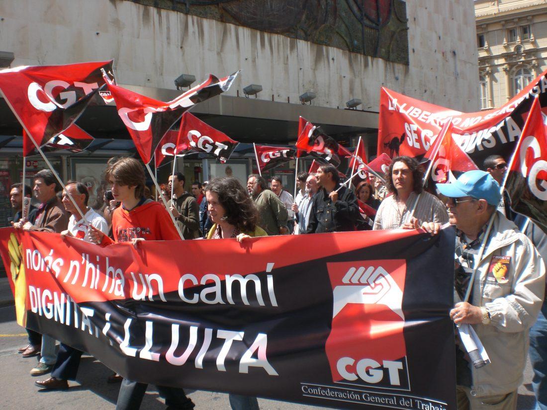 Valencia: unos 800 confederales en las calles de la ciudad
