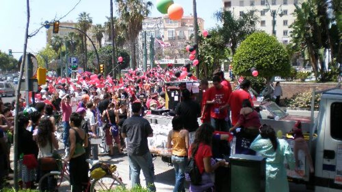 Málaga: más de un millar de personas en la manifestación de CGT en el 1º Mayo