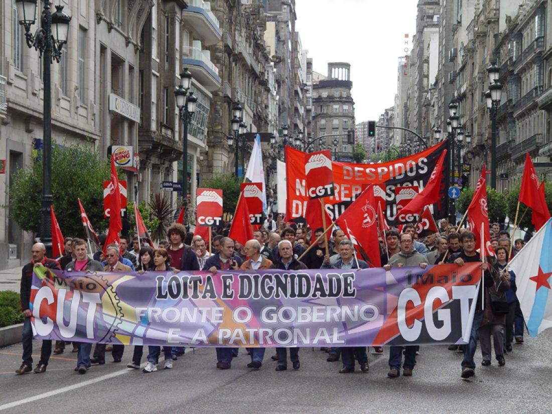 Vigo: fotos de la manifestación conjunta de CGT y CUT