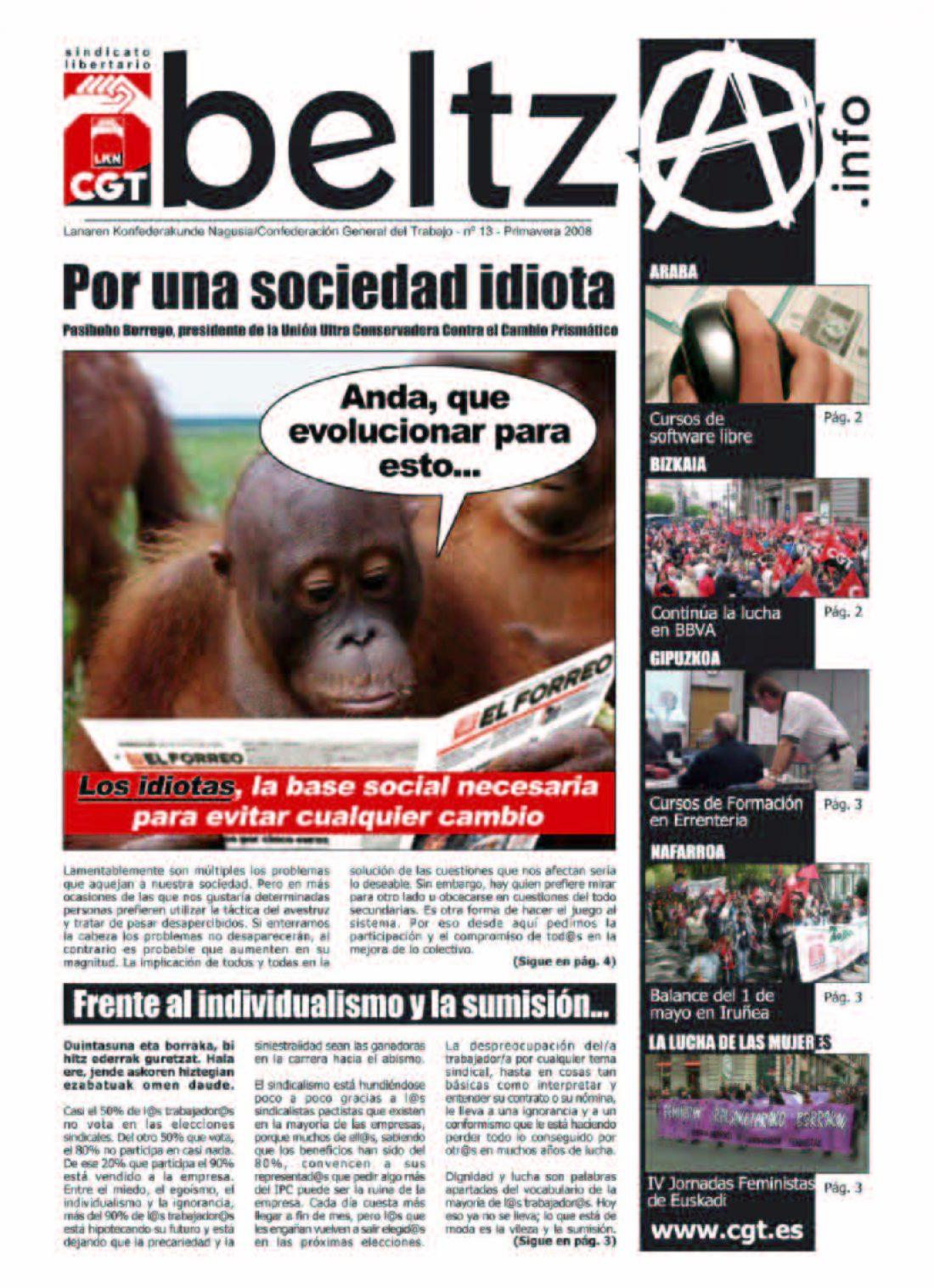 Beltza nº 13. Primavera 2008 (CGT Euskadi)
