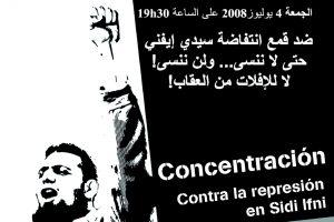 Concentración contra la impunidad represora de Marruecos en Sidi Ifni