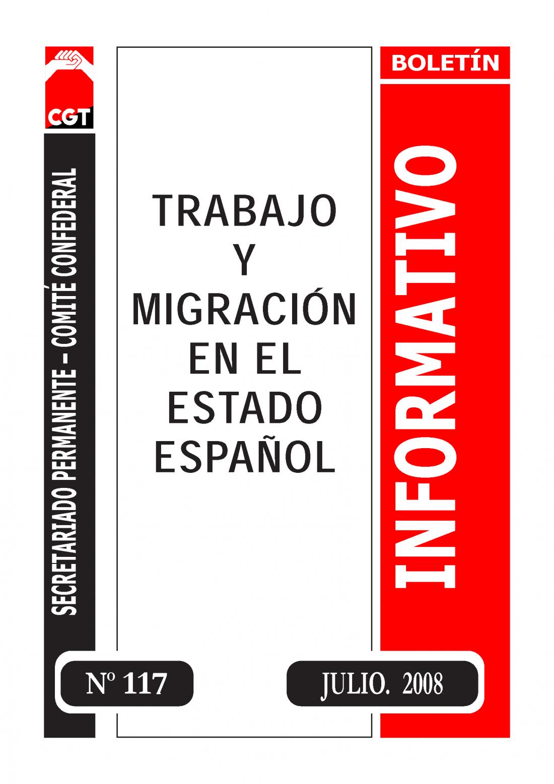 117. Trabajo y Migración en el estado español