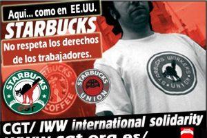 Starbucks: Aquí… como en EE.UU., No respeta los derechos de los trabajadores.