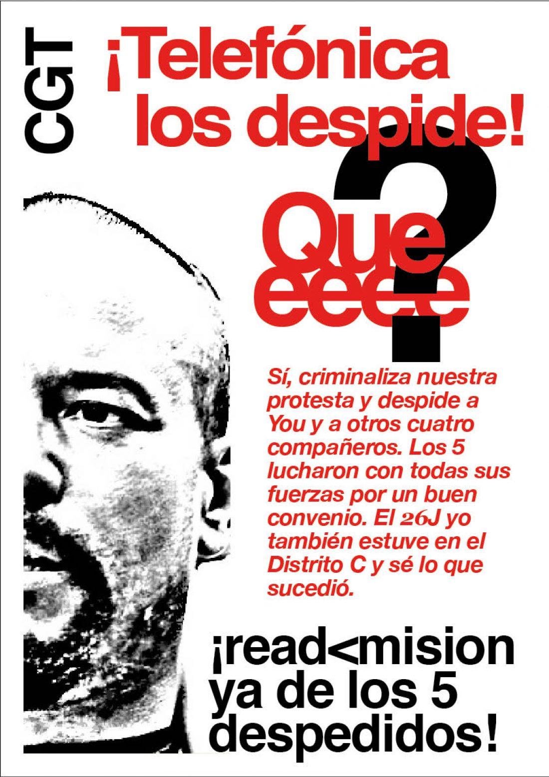 Represión sindical en Telefónica (28/8/08)