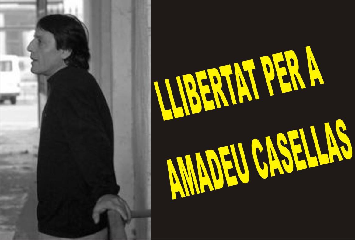Amadeu Casellas deja la huelga de hambrea los 76, tras un principio de acuerdo para obtener el tercergrado