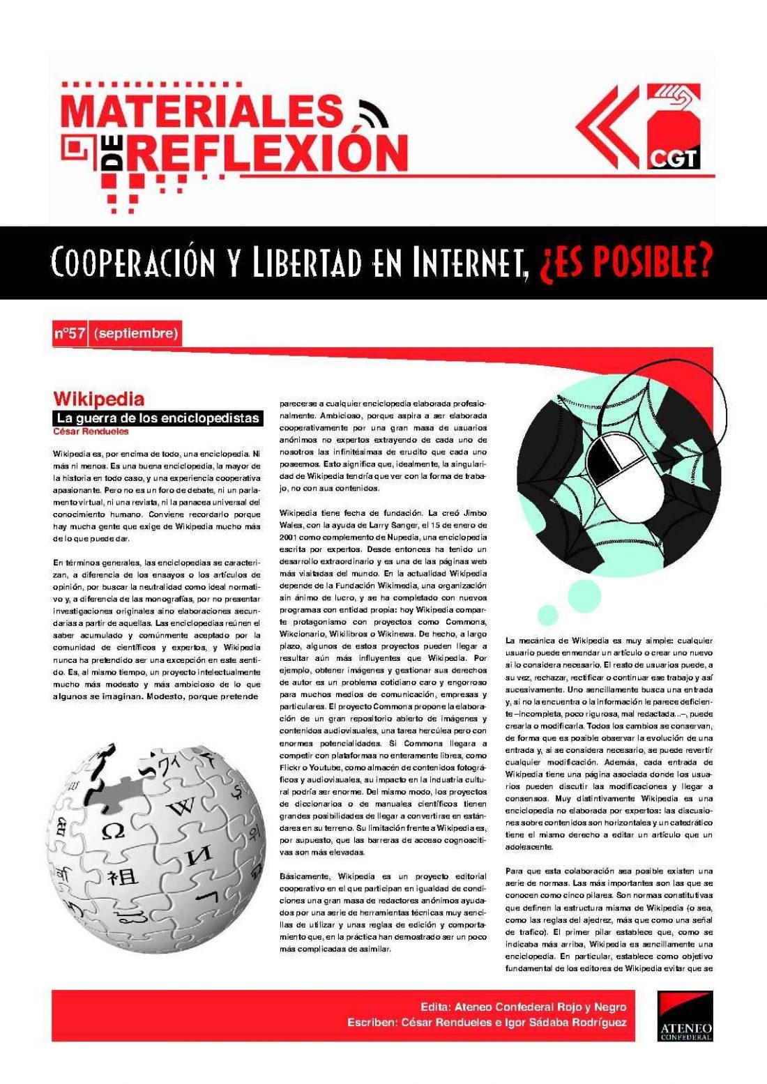 MR 57. Cooperación y Libertad en internet, ¿Es posible?