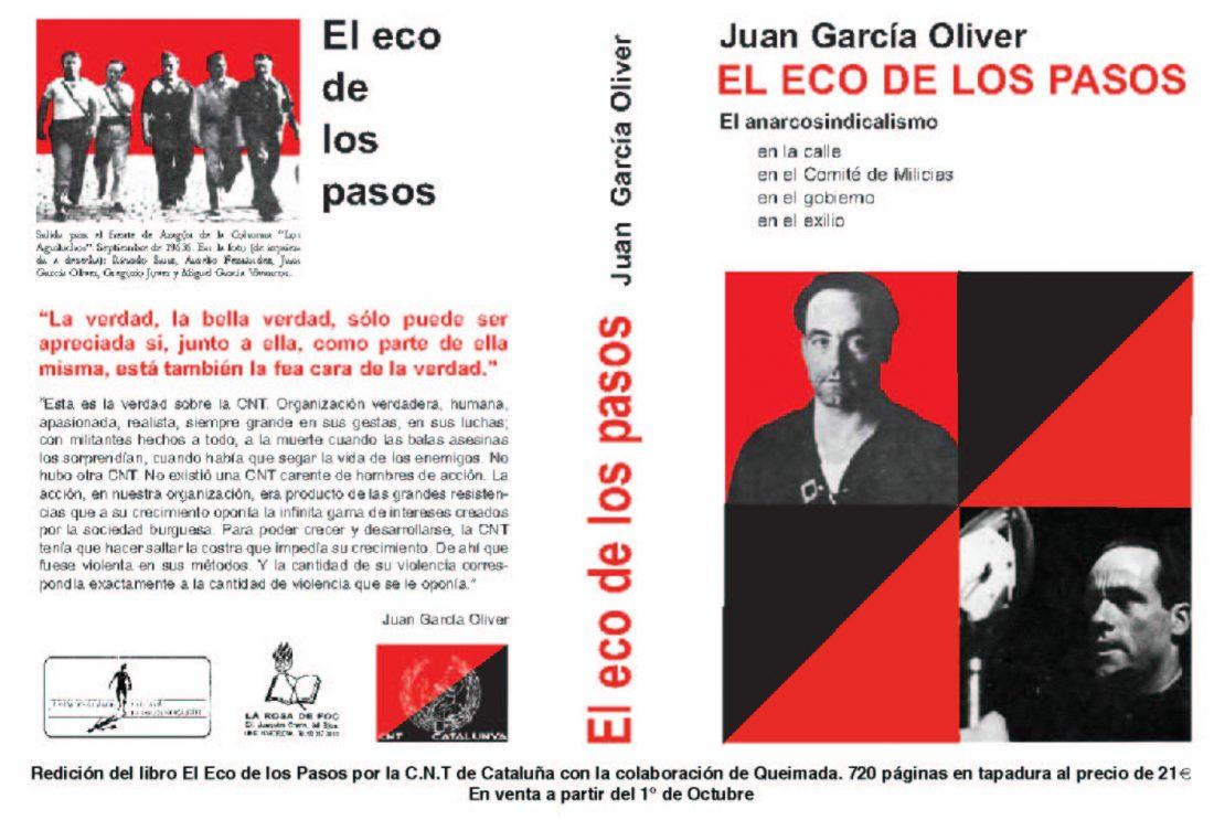 Reeditado «El eco de los pasos», de Juan García Oliver