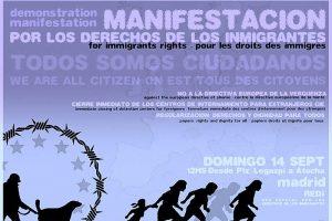 Fotos de la Manifestación por los derechos de l@s inmigrantes