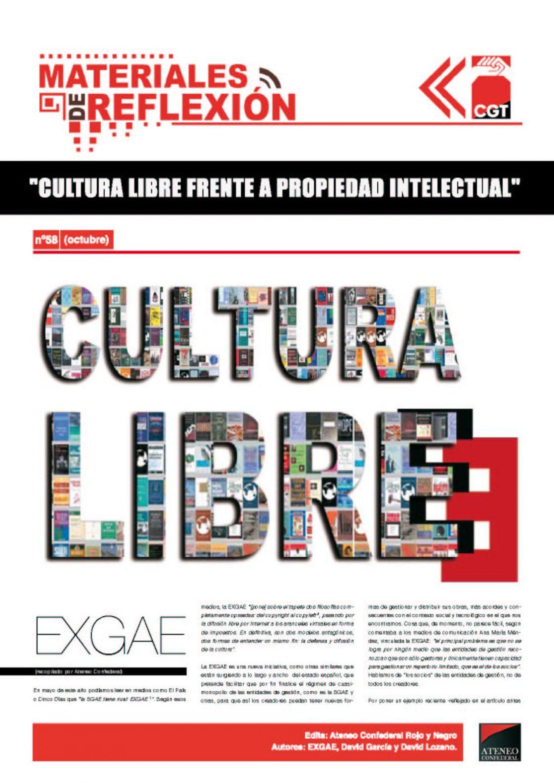MR 58. Cultura Libre frente a la propiedad intelectual