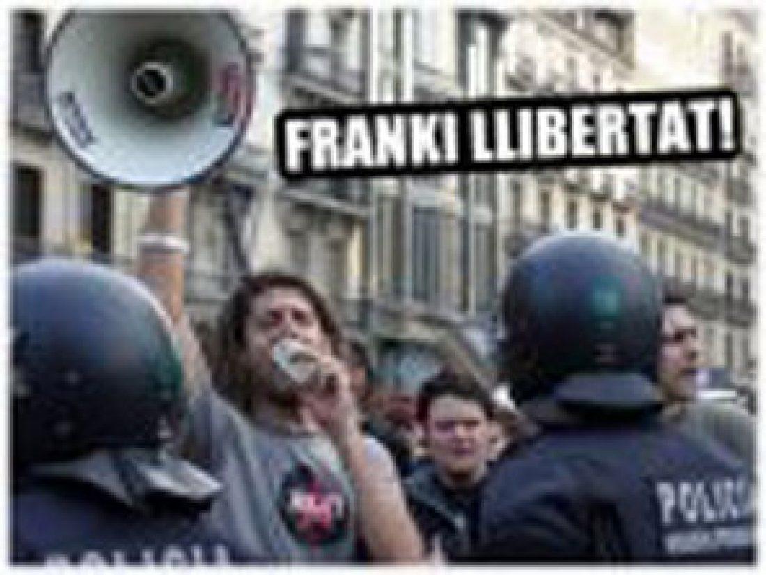 Los mossos d'esquadra denuncian al Franki por participar en la manifestación del KORK III, y Prisiones lo sanciona.