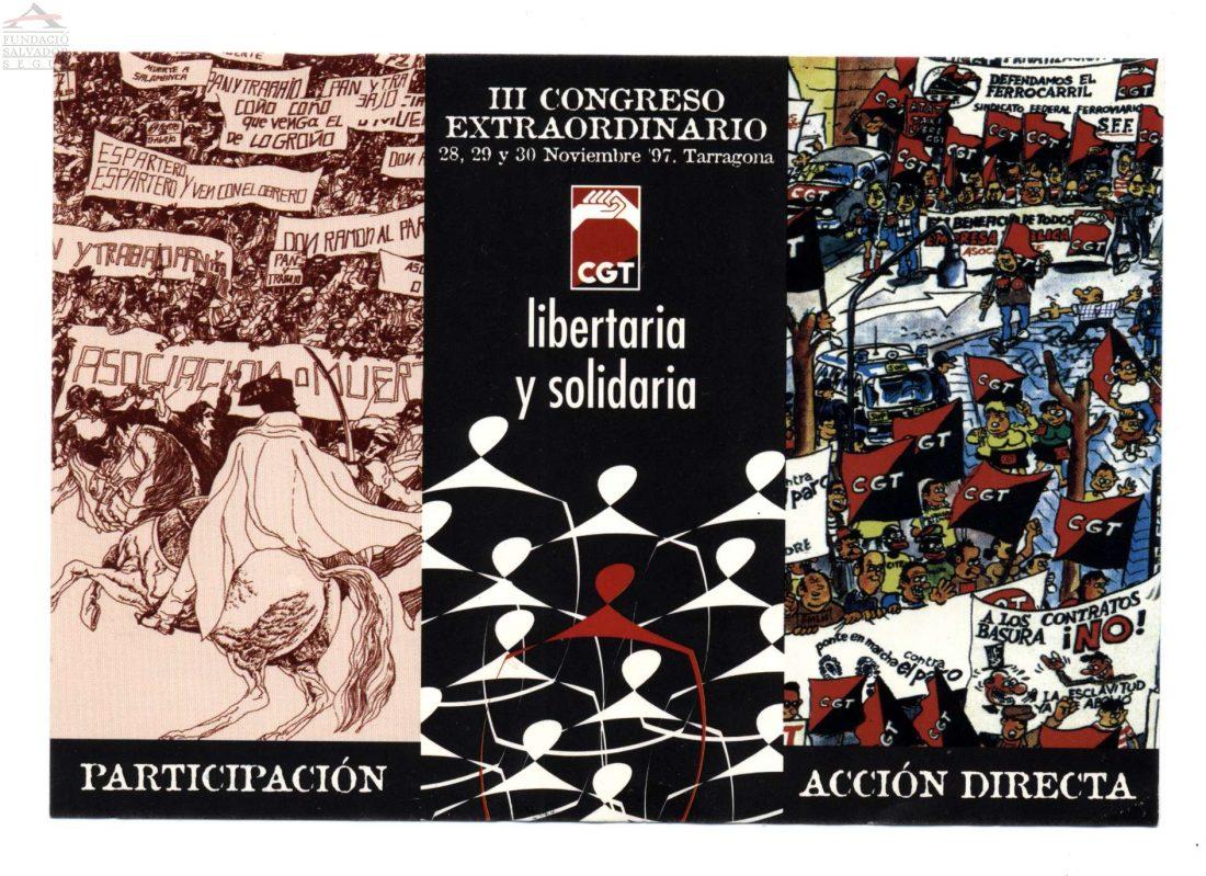 Cartel III Congreso Extraordinario CGT (Tarragona 1997)