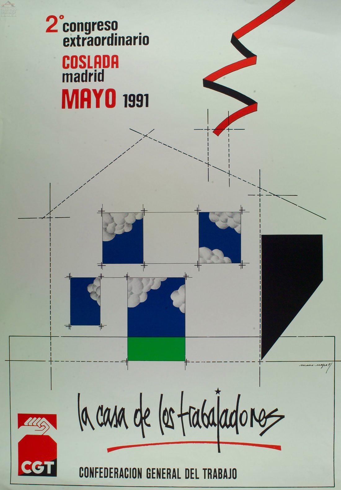 Cartel II Congreso Extraordinario CGT (Coslada 1991)