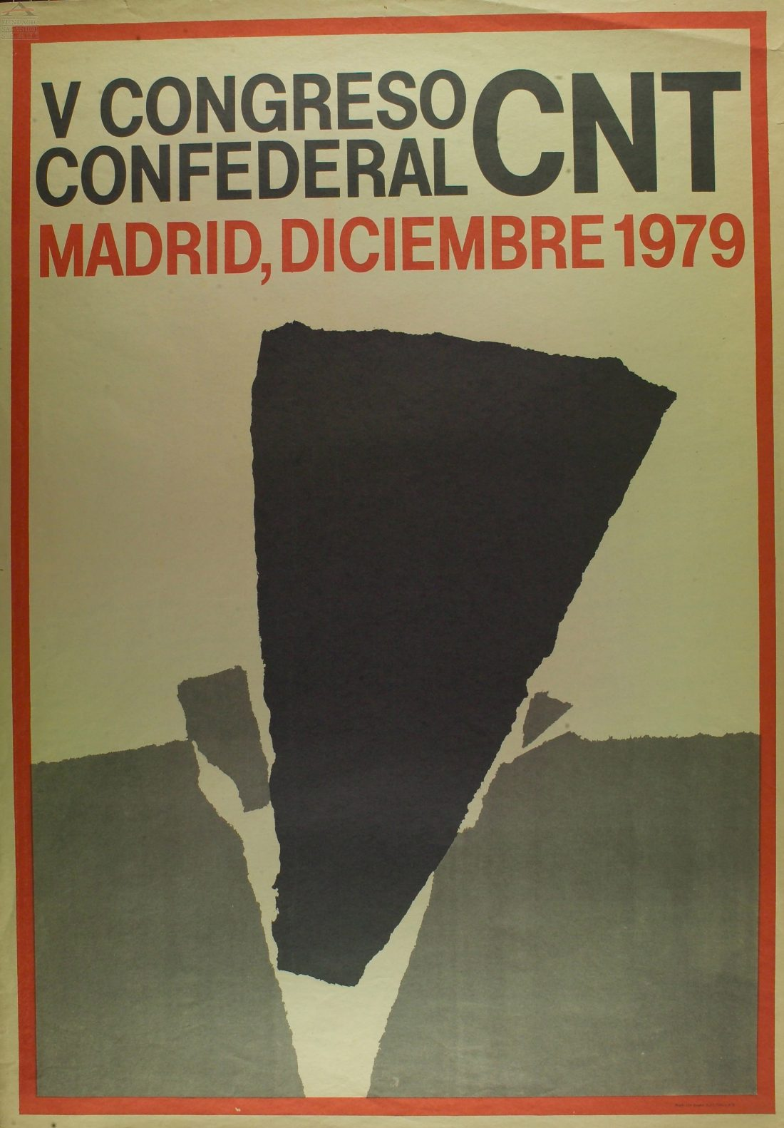 Cartel V Congreso Confederal (Madrid 1979)