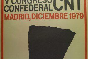 Cartel V Congreso Confederal (Madrid 1979)