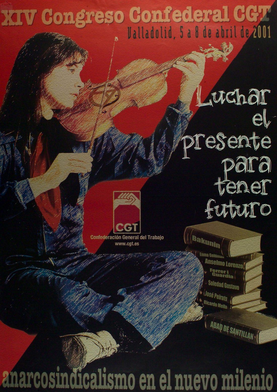 Cartel XIV Congreso CGT (Valladolid 2001)