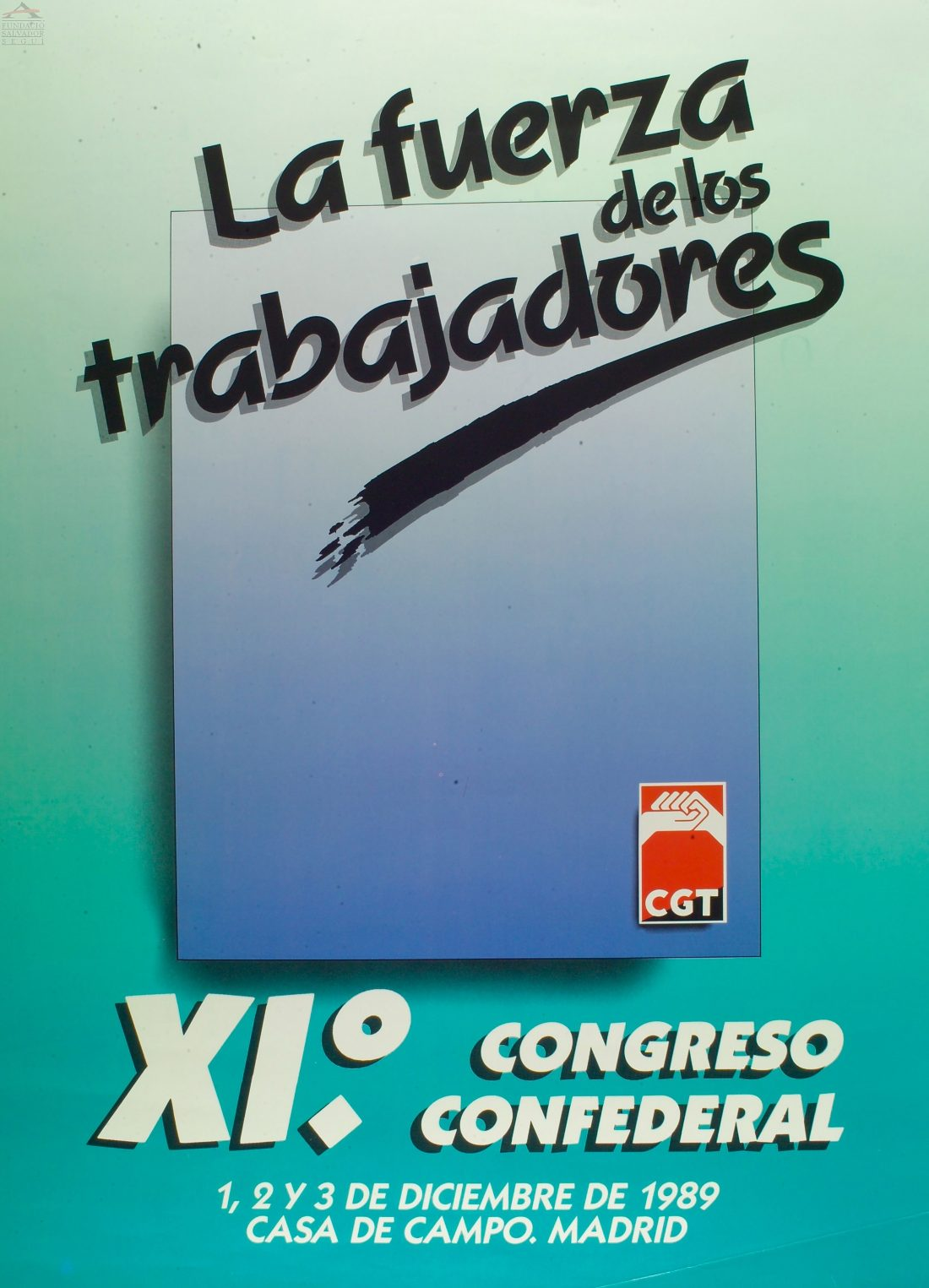 Cartel XI Congreso CGT (Madrid 1989)