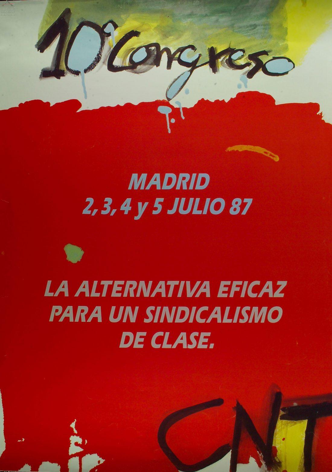 Cartel X Congreso CNT (Madrid 1987)
