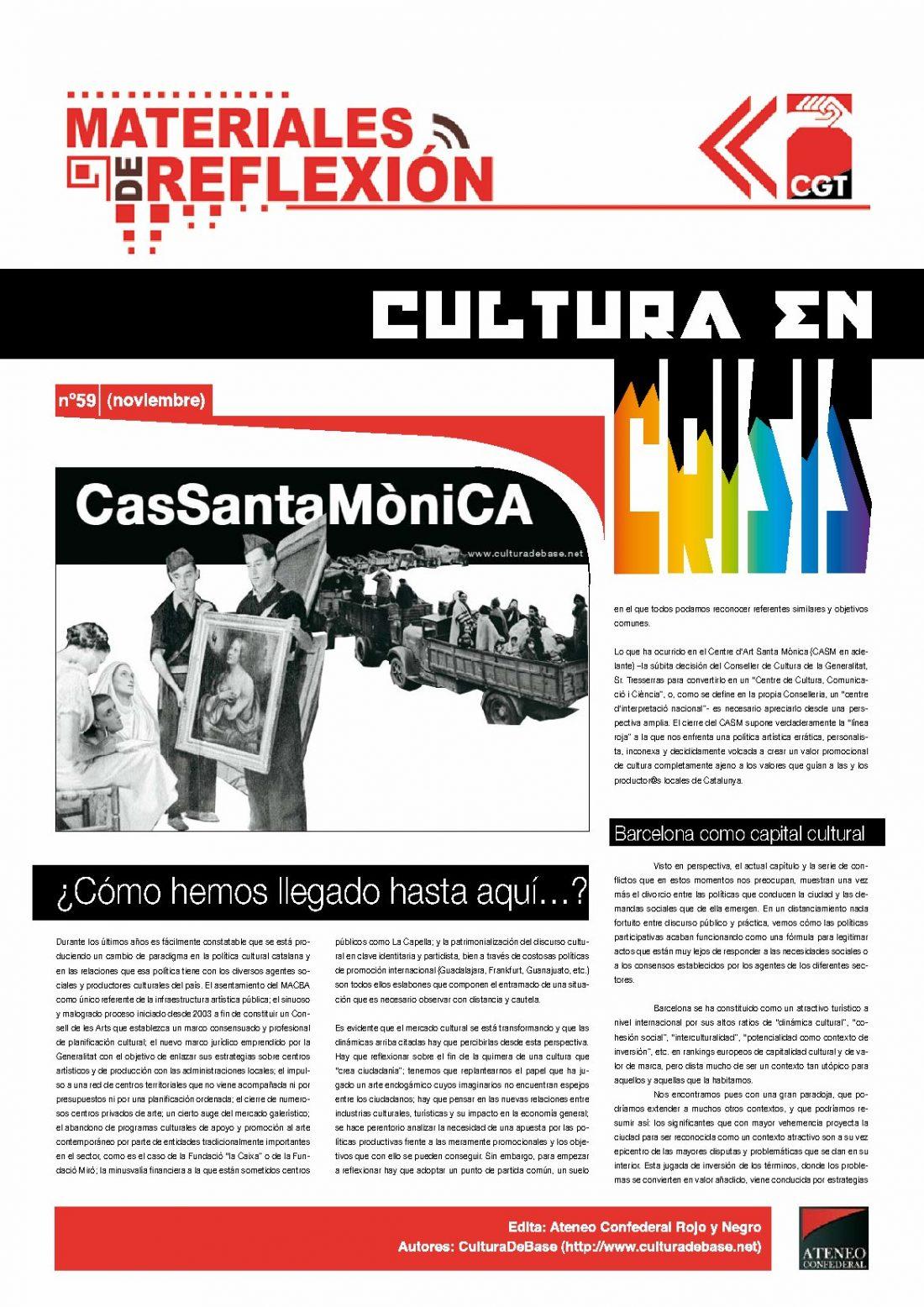 MR 59. Cultura en Crisis.