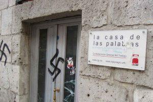Atentado contra una sede de CGT en Valladolid.