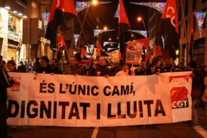 """Multitudinaria manifestación en Barcelona el 29 de noviembre para exigir que """"la crisis la paguen los ricos"""""""