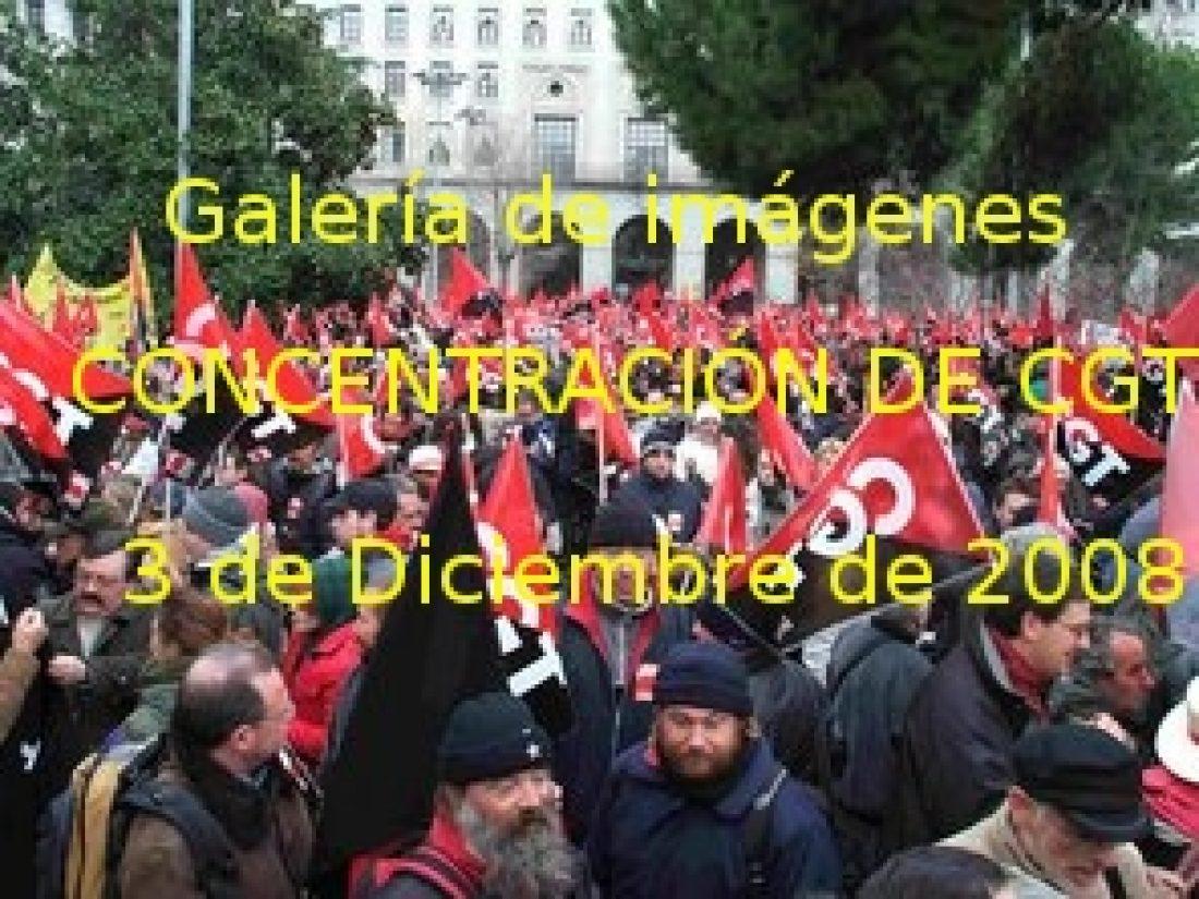 Galería de fotos, audios y videos de la concentración de CGT del 3 de Diciembre ante el Ministerio de Trabajo