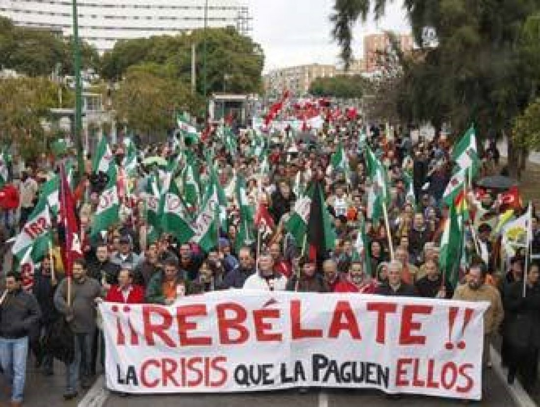 Más de 2.500 personas en la manifestación unitaria de Sevilla contra la crisis