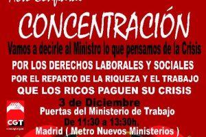 Todas y todos a Madrid: Acto Confederal del 3 de Diciembre.